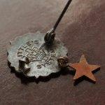 画像4: USAヴィンテージピンバッジ銅・星付|キリスト教聖品UNITED BRETHREN教会日曜学校メンバーブローチ (4)