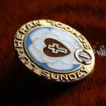 画像2: USAヴィンテージ十字架・ハートピンバッジ|キリスト教聖品LUTHERAN SUNDAY SCHOOLブローチB (2)