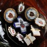 画像6: USAヴィンテージ十字架・ハートピンバッジ|キリスト教聖品LUTHERAN SUNDAY SCHOOLブローチB (6)