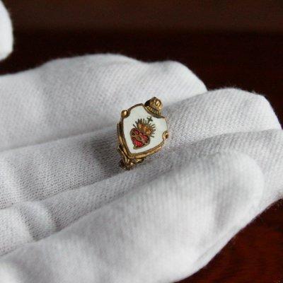 画像3: USAヴィンテージ聖心ピンバッジ|キリスト教聖品sacred heart of JesusカトリックブローチA