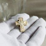 画像4: USAヴィンテージピンバッジ十字架磔刑イエスキリスト像ブローチ|アンティーク雑貨聖品 (4)