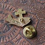 画像2: USAヴィンテージピンバッジ|十字架と魚イクトゥスクリスチャンフィッシュブローチピンズ聖品 (2)