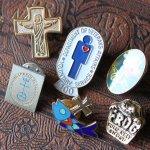 画像4: USAヴィンテージピンバッジ|十字架と魚イクトゥスクリスチャンフィッシュブローチピンズ聖品 (4)