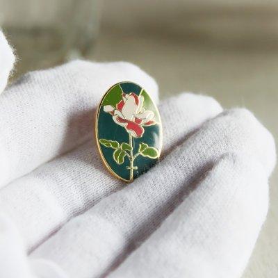画像3: USA90s薔薇と十字架のピンバッジ|薔薇十字フリーメイソン聖品USAヴィンテージ