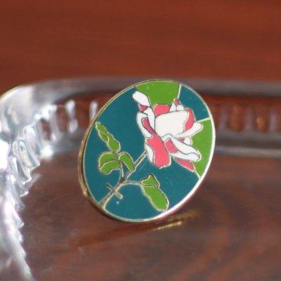 画像1: USA90s薔薇と十字架のピンバッジ|薔薇十字フリーメイソン聖品USAヴィンテージ