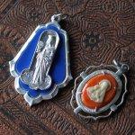 画像6: イタリアヴィンテージメダイ|聖バルバラギリシャ・東方正教会聖品アンティークメダイ (6)