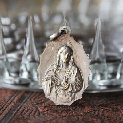 画像2: 絶えざる御助けの聖母子・イエスの御心聖心メダイ|アンティークメダイカトリックイタリアヴィンテージ