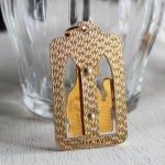 画像4: イタリアヴィンテージメダイ|聖バルバラギリシャ・東方正教会聖品アンティークメダイ(ゴールド) (4)