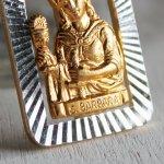 画像2: イタリアヴィンテージメダイ|聖バルバラギリシャ・東方正教会聖品アンティークメダイ(ゴールド) (2)