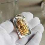 画像6: イタリアヴィンテージメダイ|聖バルバラギリシャ・東方正教会聖品アンティークメダイ(ゴールド) (6)