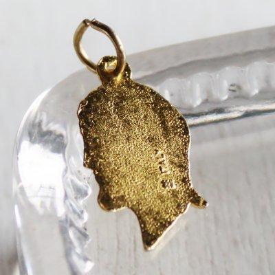 画像2: イエスキリストの横顔メダイ真鍮製ペンダントトップチャーム|イタリアカトリック聖品