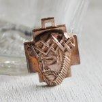 画像1: イエスキリストの横顔メダイ銅製ペンダントトップチャーム|カトリック聖品 (1)