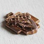 画像2: イエスキリストの横顔メダイ銅製ペンダントトップチャーム|カトリック聖品 (2)