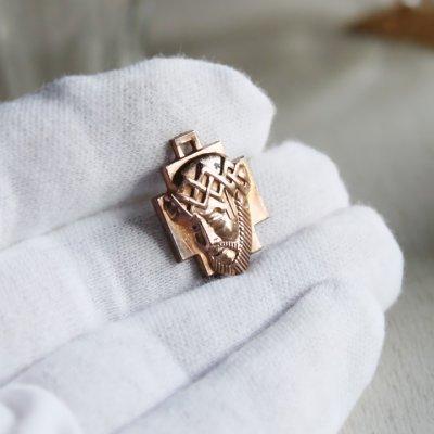 画像3: イエスキリストの横顔メダイ銅製ペンダントトップチャーム|カトリック聖品