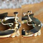 画像12: ヴィンテージコスチュームジュエリーイヤリング赤緑宝石ラインストーン|アンティークジュエリー (12)