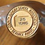 画像2: USAヴィンテージのキリスト教ペンシルベニア日曜学校25周年記念ピンバッジ|アンティークピンズブローチNY (2)