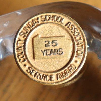 画像1: USAヴィンテージのキリスト教ペンシルベニア日曜学校25周年記念ピンバッジ|アンティークピンズブローチNY
