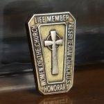 画像2: USAヴィンテージJOSTENS社製10KG.F.キリスト教PRESBYTERIAN CHURCHケルト十字クロスピンバッジ|アンティークブローチピンズ (2)