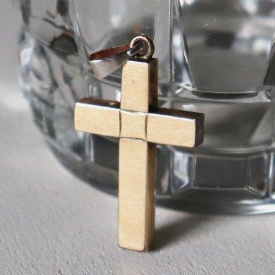 画像3: USAヴィンテージクロス十字架ペンダントチャームブライトカット彫金|12Kアンティーククリスチャンカトリック聖品