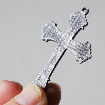 画像3: USAヴィンテージクロス十字架ペンダントチャームピューター&真鍮|アンティーククリスチャンカトリック聖品
