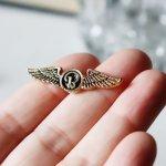 USAアドバタイジングピンバッジ両翼ウィング航空エアラインピンズ