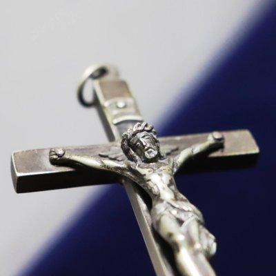 画像2: フランスヴィンテージイエスキリストの磔刑十字架クロス|アンティーク聖品ゴルゴダの丘