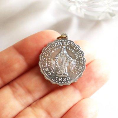 画像3: アメリカヴィンテージ不思議のメダイ 無原罪のマリア聖母・マリアの子ら信心会ペンダントチャーム
