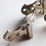 アンティーク建築金物・建具ハードウェア|真鍮製丁番蝶番ヒンジ3枚セット