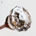 アンティークガラスドアノブ硝子真鍮座金ドアハンドル・Antique glass door knob