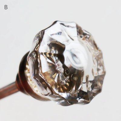 画像3: アンティークガラス製ドアノブA|USAヴィンテージ硝子ノブ真鍮座金ドアハンドル取手