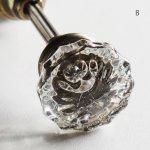 画像13: アンティークガラス製ドアノブB|USAヴィンテージ硝子ノブ真鍮座金ドアハンドル取手 (13)