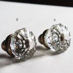 画像6: アンティークガラス製ドアノブB|USAヴィンテージ硝子ノブ真鍮座金ドアハンドル取手 (6)