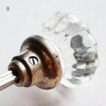 画像16: アンティークガラス製ドアノブB|USAヴィンテージ硝子ノブ真鍮座金ドアハンドル取手 (16)