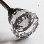 アンティークガラスドアノブ建築金物ハンドル・Antique glass door knob