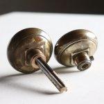 USA米国アンティークブラスドアノブ真鍮製取手ドアハンドル・Antique brass door knob