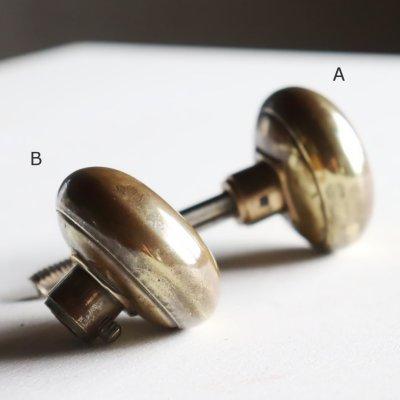 画像2: アンティークブラスドアノブ USAヴィンテージ真鍮製ドアハンドル取手ノブ