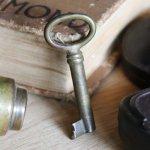 アンティークキー 古い錠前パドロック用の真鍮製鍵