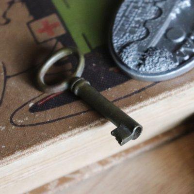 画像2: USAヴィンテージ真鍮製の鍵A 古いアンティークキー・アンティーク鍵・カギ