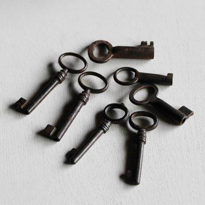 画像3: USAヴィンテージ鍵2本セット60mm 古いアンティークキー・アンティーク鍵・カギ