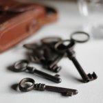 画像9: USAヴィンテージ鍵2本セット60mm 古いアンティークキー・アンティーク鍵・カギ (9)