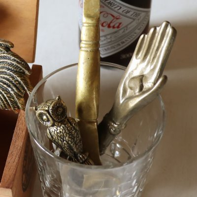 画像3: USAヴィンテージ真鍮製ボトルオープナー栓抜き・手ハンド|アンティークキッチン雑貨・幸運愛クラダリング
