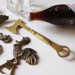 斧・碇のブラス真鍮ボトルオープナー栓抜き|アンティークキッチン雑貨