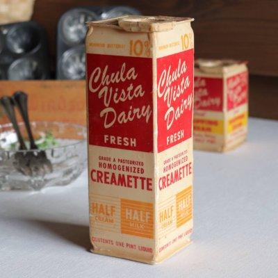 画像1: USAヴィンテージフレッシュクリームChula Vista Dairy空箱1PT. アドバタイジング・キッチン雑貨