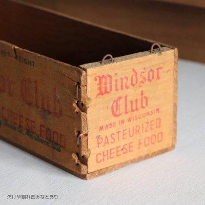 画像3: USAヴィンテージ木製チーズボックスWindsor Club|アンティークキッチン雑貨Cheese wood box