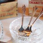 USAヴィンテージ1940年代ミスターピーナッツシルバープレートフォーク Mr. Peanut silver plate fork