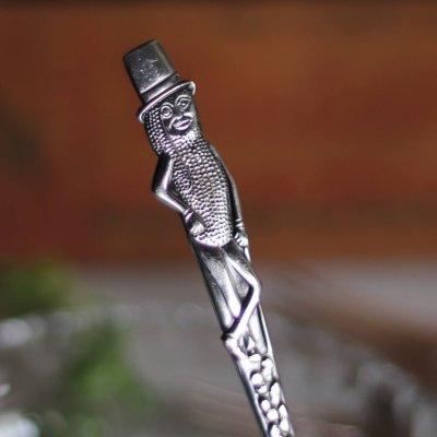 画像2: USAヴィンテージ1940年代ミスターピーナッツシルバープレートフォーク Mr. Peanut silver plate fork