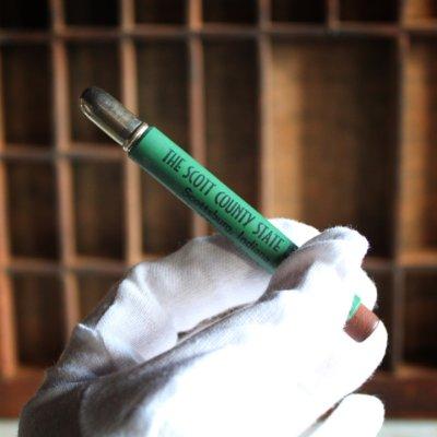 画像3: USAアメリカヴィンテージバレットペンシル|弾丸型アドバタイジング鉛筆THE SCOTT COUNTY STATE BANK