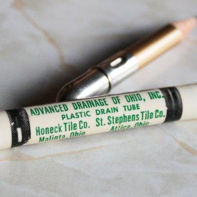 画像2: USAアメリカヴィンテージバレットペンシル|弾丸型アドバタイジング鉛筆 ADVANCED DRAINAGE OF OHIO