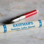 画像5: USAアメリカヴィンテージバレットペンシル|弾丸型アドバタイジング鉛筆 KAUFMAN'S・Exclusive Ladies Apparel (5)
