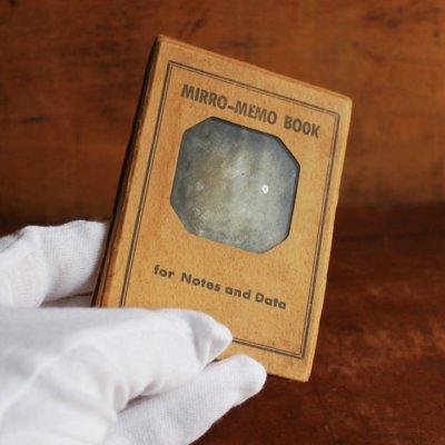 画像1: USAアメリカヴィンテージミラーノートブックMIRRO-MEMO BOOK騙し絵&鏡付メモ帳|アンティーク珍品